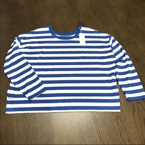 NWT Tory Sport Performance Striped Top Large